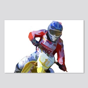 Motocross Driver Postcards (Package of 8)