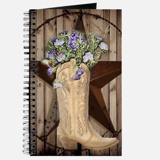 rustic barn texas cowgirl boots Journal