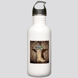 rustic barn texas cowg Stainless Water Bottle 1.0L