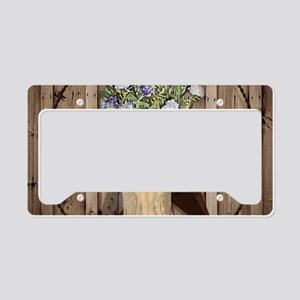 rustic barn texas cowgirl boo License Plate Holder