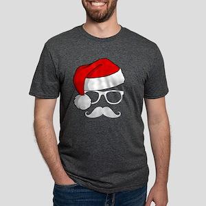 Christmas Mustache Nerd T-Shirt