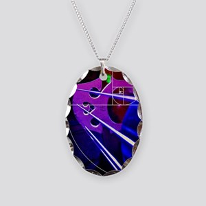 Cello bridge with Fibonacci spiral Necklace