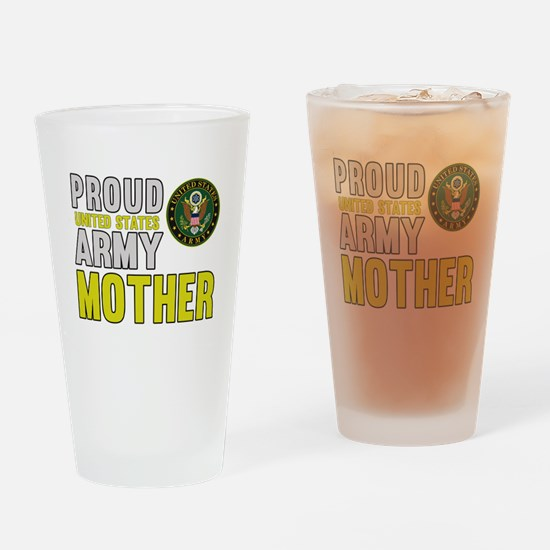 Proud US Army Mother Drinking Glass