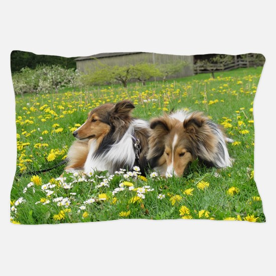 Sheltie Field of Dreams Pillow Case