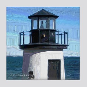 Lobster Point Lighthouse Tile Coaster