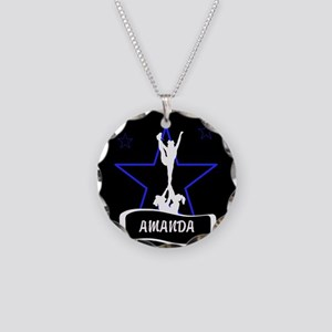 Black and Blue Cheerleader Necklace