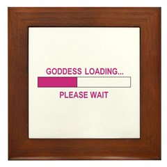 GODDESS LOADING Framed Tile