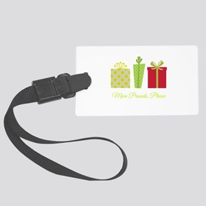 More Presents Please Large Luggage Tag