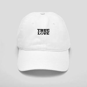 True Love Football (Distressed) Baseball Cap