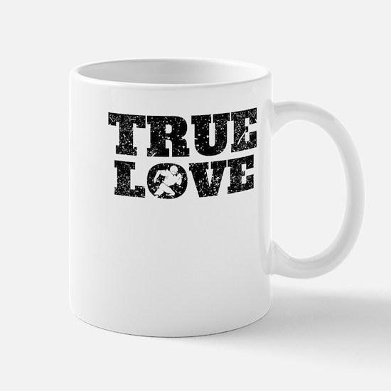 True Love Football (Distressed) Mugs