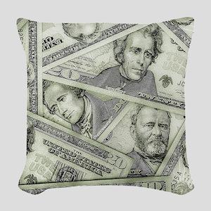 Money Woven Throw Pillow