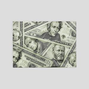 Money 5'x7'Area Rug