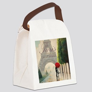 Je T'aime Paris Canvas Lunch Bag