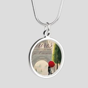 Je T'aime Paris Silver Round Necklace