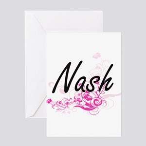 Nash surname artistic design with F Greeting Cards