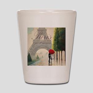 Je T'aime Paris Shot Glass