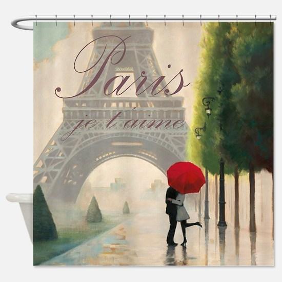 Je T'aime Paris Shower Curtain