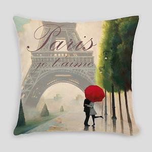 Je T'aime Paris Everyday Pillow