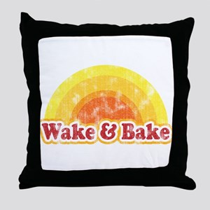Wake and Bake Throw Pillow