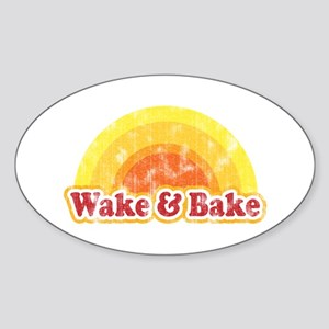 Wake and Bake Oval Sticker