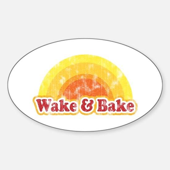 Wake and Bake Oval Decal