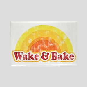Wake and Bake Rectangle Magnet