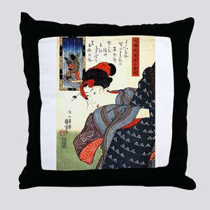 Kuniyoshi Utagawa Women 10 Throw Pillow
