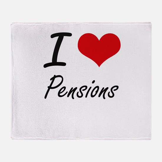 I Love Pensions Throw Blanket