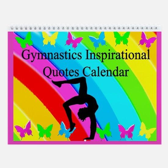 Pretty Gymnastics Wall Calendar
