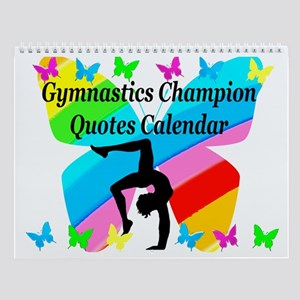 Pretty Gymnast Wall Calendar