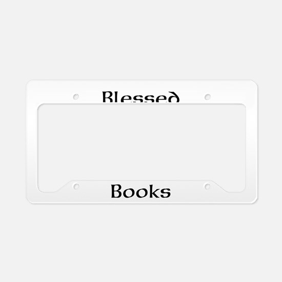 Book worm love License Plate Holder