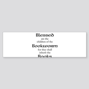 Book worm love Bumper Sticker
