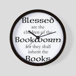 Book worm love Wall Clock