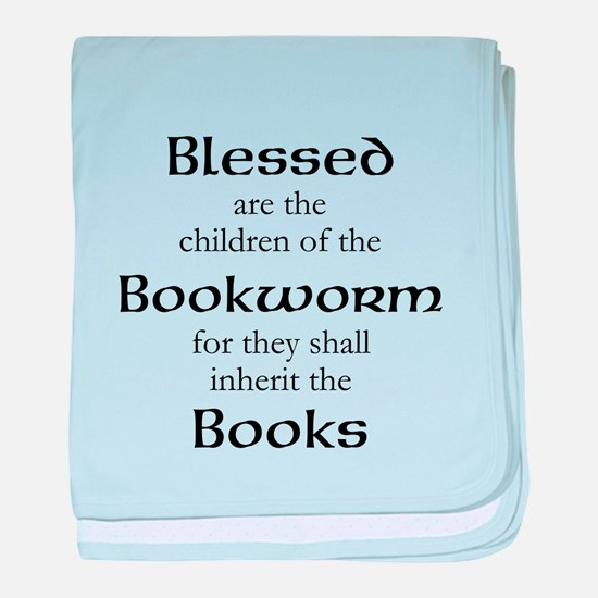 Book worm love baby blanket