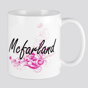 Mcfarland surname artistic design with Flower Mugs