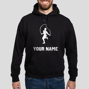 Man Jumping Rope Silhouette Hoodie