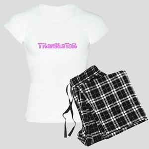 Translator Pink Flower Design Pajamas