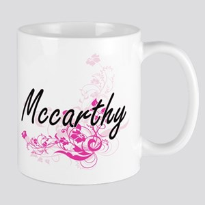 Mccarthy surname artistic design with Flowers Mugs