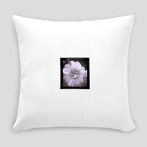 Flowers-White-Black-Bold Everyday Pillow