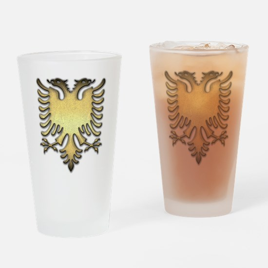 Gold Eagle Drinking Glass