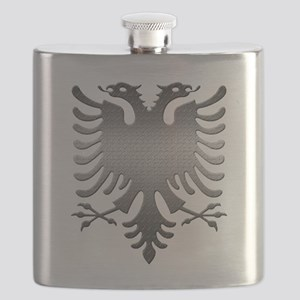 Albanian Eagle Steel Flask