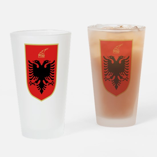 Albanian Coat of Arms Drinking Glass