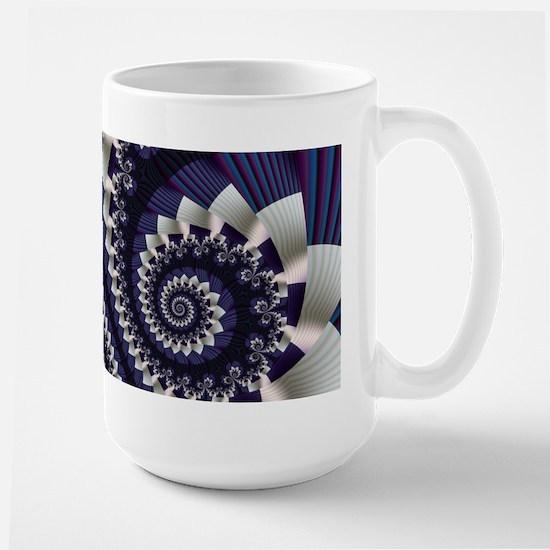 """""""Pleats 3"""" Fractal Art Large Mug"""