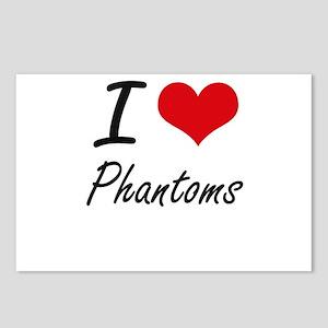 I Love Phantoms Postcards (Package of 8)