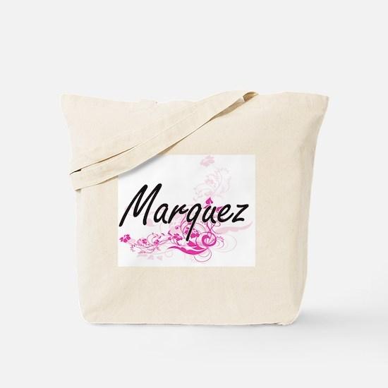 Marquez surname artistic design with Flow Tote Bag