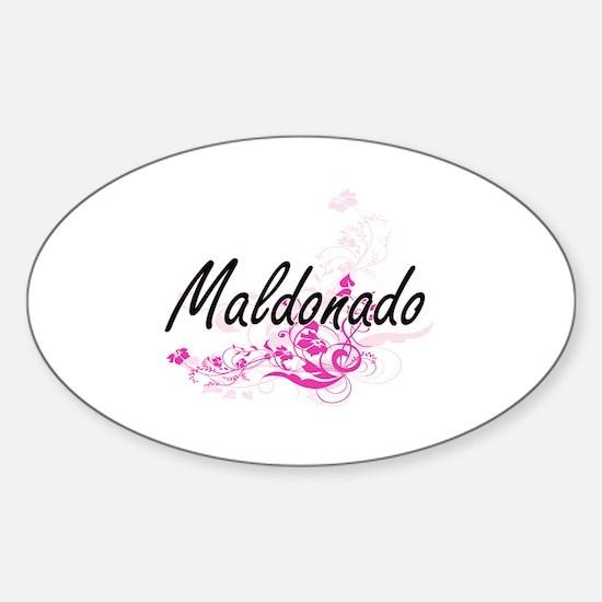 Maldonado surname artistic design with Flo Decal