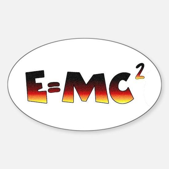 E=MC2 Relativity Sticker (Oval)
