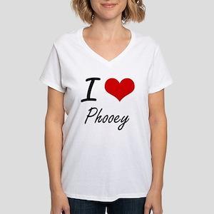 I Love Phooey Women's V-Neck T-Shirt