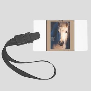 Horse-White-Pony-Wild Large Luggage Tag