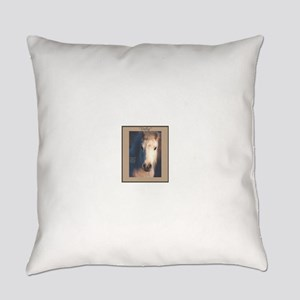 Horse-White-Pony-Wild Everyday Pillow